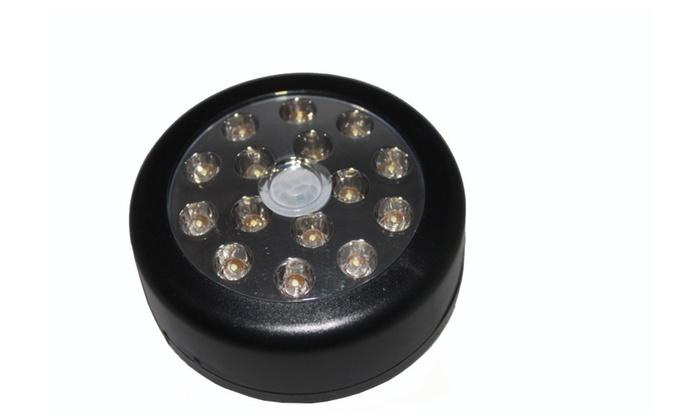 15 LED Auto PIR Sensitive LED Light Black
