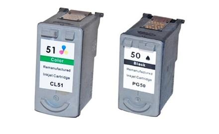 Canon PG50-CL51 Black/Tricolor Combo Set Compatible