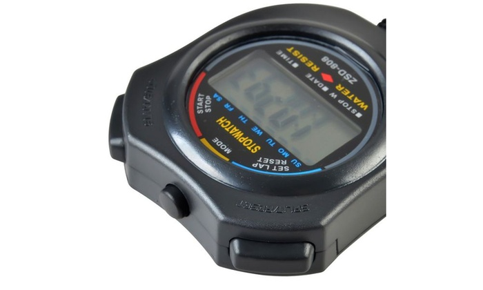 Insten LCD Digital Stopwatch Date Time Alarm Clock Chronograph