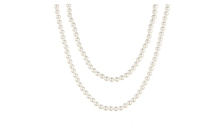 Perlita Collection White Pearl Necklae 30 Inch