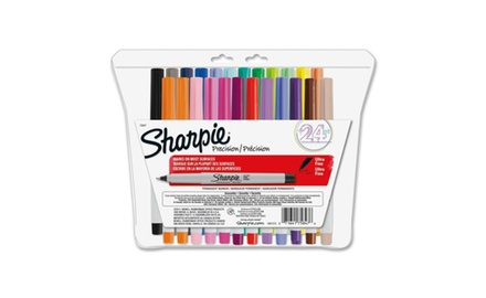 Sharpie Ultra-Fine-Point Permanent Markers, 24-Pack Colored Markers (75847)