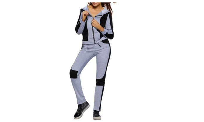 Women's Long Sleeve Casual Straight Regular Fit Pants Set