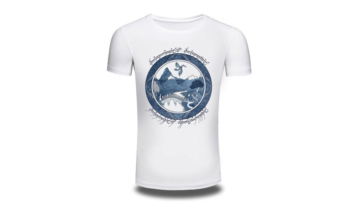 Exotic Nature Circle Cotton Men Printed Graphic Tee T-Shirt