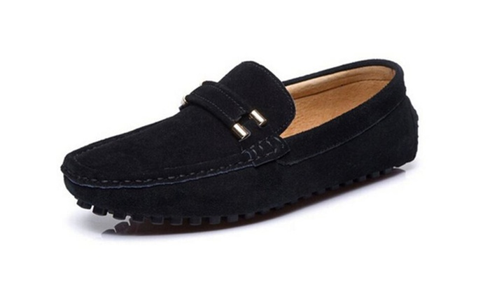 Men's Suede Casual Slip-resistant Buckle Driving Slip On Loafer