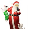 """48.5"""" Commercial Size Santa Claus w/ Puppy Dog Xmas Display Decoration"""