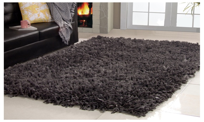 linens connection cozy modern hand woven shag area rug 8u0027 x