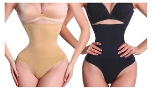 Women Thong Shapewear Body Shaper Tummy Control Waist Cincher Girdle