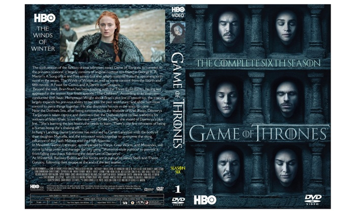 Game of Thrones Complete Season 6 DVD Series Box Set 5 Disc