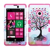 Insten Love Tree/Pink Hybrid Soft Hard Case Cover For NOKIA Lumia 521