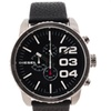 Diesel Men's Black Leather Strap Black Dial Chronograph Watch