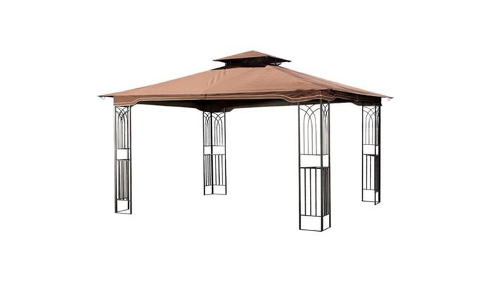 Regency II Gazebo Patio Canopy With Mosquito Netting ...