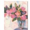 Sheila Golden Pink Floral Reverie Canvas Print