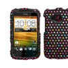 Insten Sprinkle Dots Diamante Phone Case for HTC: Desire C