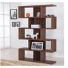 Baxton Modern Multi Shelf Walnut Display Case