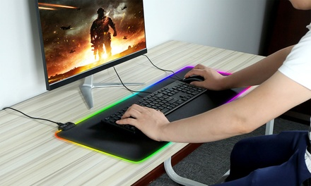 iMounTEK Large Non-Slip LED Gaming Mouse Pad with 10 Light Modes