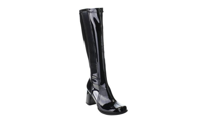 FUNTASMA GOGO-303 Women's Block Heel Knee High Boots