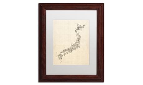 Michael Tompsett 'Old Sheet Music Map of Japan' Matted Framed Art 5f50a510-ede4-4c0c-89c4-b02218832562