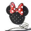 Minnie Mouse Die Cut Quilted Crossbody Chain Handbag Purse