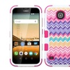 Insten Camo Wave Hybrid Silicone Case For Huawei Union Purple Hot Pink