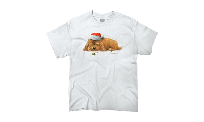 Cuddly Sleeping Christmas Puppy T-Shirt