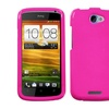Insten Solid Shocking Pink Phone Case for HTC: One S