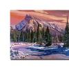 David Lloyd Glover Ice River Sunrise Canvas Print