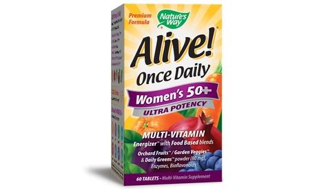 Nature's Way Alive! 50& Women Multivitamin, 60 Count
