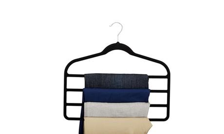 QPower Premium New Hanger 4 Bar Suit hanger Pair-Black 2b2ded6f-e7bd-4079-9bb4-922a1e701821