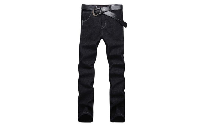 Men's Slim Fit Long Straight Casual Solid Pants