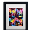 Dean Russo 'Chihuahua 4x' Matted Black Framed Art