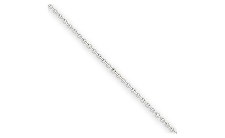 IceCarats Designer Jewelry 14k WG .9mm Cable Chain
