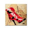 Roderick Stevens Red Strap Boot Canvas Print