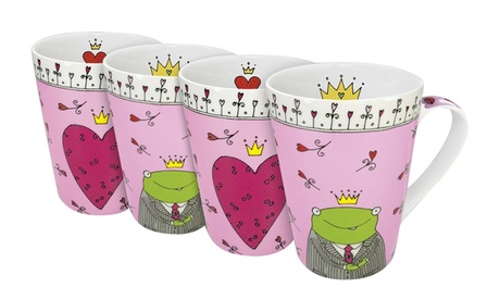 Set of 4 Mugs Prince & Princess of My Heart fe43d9ca-b4b5-4e6b-bd7f-2a3ddd924da9