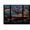 Philippe Hugonnard Window View London by Night 2 Canvas Print 35 x 47