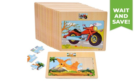 1PC Educational Animal Wooden Jigsaw Puzzles for Kids 2-5 Years