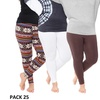 Pack of 3: Women's Plus Size Legging (One Size Fits Most)