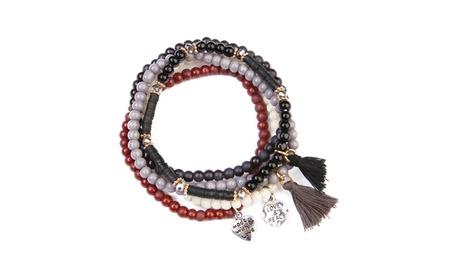 Charm Beaded Stretch Bracelet c3c743b4-9f97-42ba-860a-f72b8412e65b