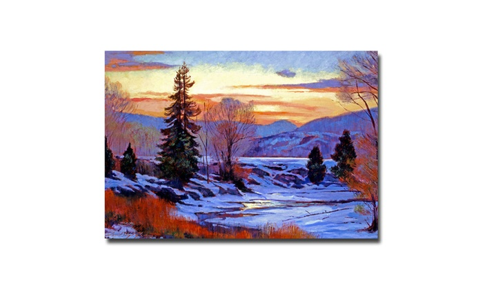 Groupon Goods: David Lloyd Glover 'Early Spring Daybreak' Canvas Art