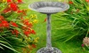 Pure Garden Outdoor Garden Antique Bird Bath
