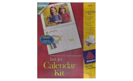 Avery Calendar Kit, Ink Jet, 3278