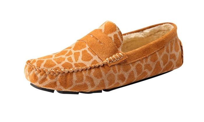 Stylebek Men's Winer Warm Slip On Printed Loafer Flat Shoes