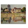 Claude Monet By the River at Vernon Canvas Print