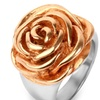 Gold Plated Stainless Steel Rose Ring