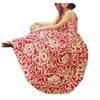 Women Fashion Casual Floral Maxi Chiffon Sundress