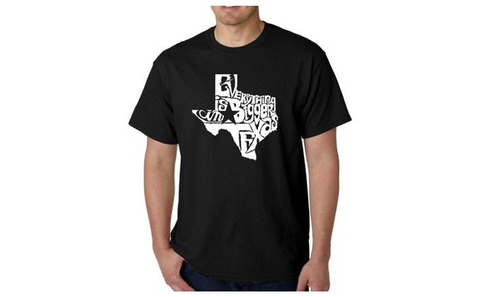 Men's T-shirt - Everything is Bigger in Texas