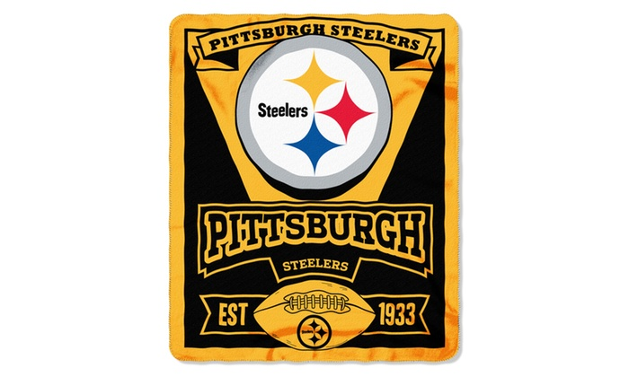 NFL 031 Steelers Marque Fleece Throw
