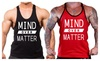 Interstate Apparel Inc.: Men's Mind Over Matter Y-Back Bodybuilding Stringer Tank Top
