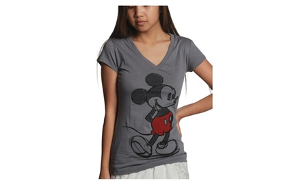 Mickey Sketch Gray V-neck