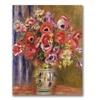 Pierre Renoir Vase of Tulips and Anemones Canvas Print