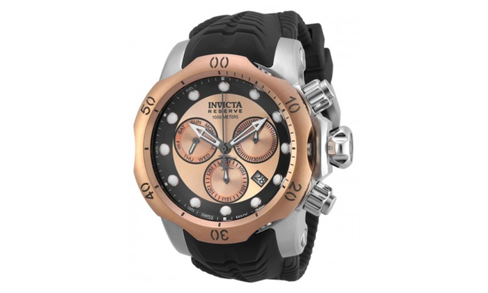 401d97282 Invicta 19921 Rose Gold Dial Venom Quartz Chronograph Mens Watch ...